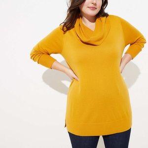 LOFTPlus Luxe Knit Cowl Neck Tunic Sweater 16/18💛